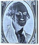 George Washington In Negative Cyan Acrylic Print