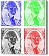 George Washington In Quad Negative Acrylic Print
