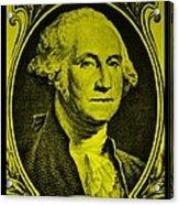 George Washington In Yellow Acrylic Print