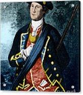 George Washington, Virginia Colonel Acrylic Print by Photo Researchers, Inc.