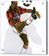 George Weah In Action Acrylic Print