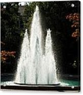 Georgia Herty Field Fountain On Uga North Campus Acrylic Print