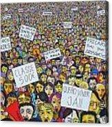Geracao A Rasca Acrylic Print by Mario Fresco