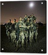 German Army Crew Poses Acrylic Print