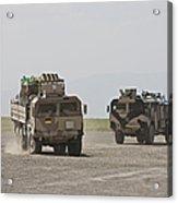 German Army Man 7t Mil Gl 6x6 Pritsche Acrylic Print