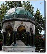German Fountain - Istanbul Acrylic Print