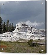 Geyser In Yellowstone Acrylic Print