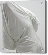 Ghost - Person Covered With White Cloth Acrylic Print