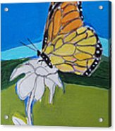 Ghost Flower And Butterfly Acrylic Print