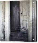 Ghost Girl In Hall Acrylic Print by Jill Battaglia
