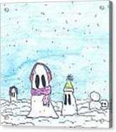 Ghost In Snow Acrylic Print