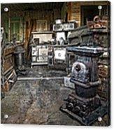 Ghost Town Stove Storage - Montana State Acrylic Print
