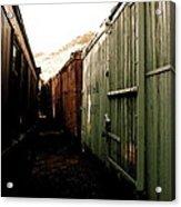 Ghost Train Yard Acrylic Print
