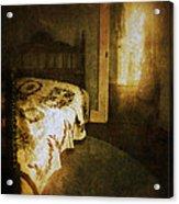 Ghostly Figure In Hallway Acrylic Print by Jill Battaglia