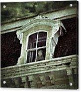 Ghostly Girl In Upstairs Window Acrylic Print by Jill Battaglia