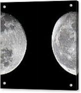 Gibbous Moon Acrylic Print