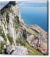 Gibraltar Rock And Mediterranean Sea Acrylic Print