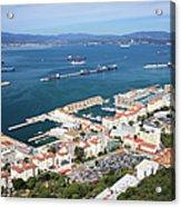Gibraltar Town And Bay Acrylic Print