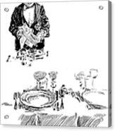 Gibson: Butler, 1900 Acrylic Print