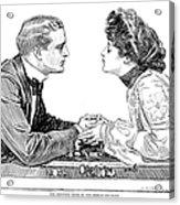 Chess Game, 1903 Acrylic Print