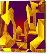 Gilded City  Acrylic Print