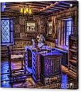 Gillette Castle Office Hdr Acrylic Print