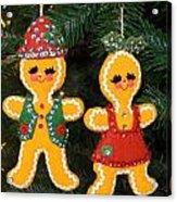 Gingerbread Couple Acrylic Print