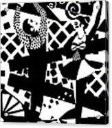 Giocattolo Dancers Acrylic Print by Forartsake Studio