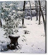Gioji Temple In Snowing Acrylic Print