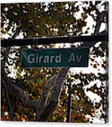 Girard Avenue In Philadelphia Acrylic Print