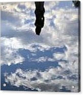 Girl And The Sky Acrylic Print