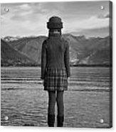 Girl At A Lake Acrylic Print