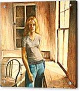 Girl At The Window Acrylic Print by Rita Bentley