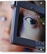 Girl Being Videotaped Acrylic Print