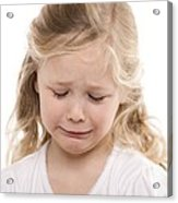 Girl Crying Acrylic Print