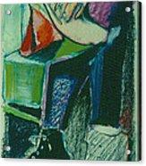 Girl In A Restaurant Acrylic Print