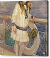 Girl In A Sailor Suit Acrylic Print