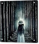 Girl In The Forest Acrylic Print