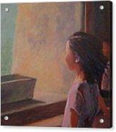 Girl In Window Acrylic Print