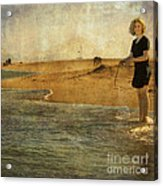 Girl On A Shore Acrylic Print
