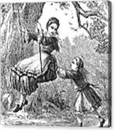 Girl On Swing, 1873 Acrylic Print