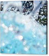 Girl Splashing Water In Swimming Pool Acrylic Print