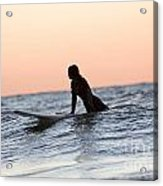 Trying To Catch A Wave Acrylic Print