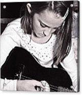 Girl With A Guitar  Acrylic Print