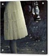 Girl With An Oil Lamp Acrylic Print by Joana Kruse