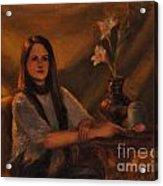 Girl With Lilies Acrylic Print