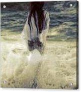 Girl With Teddy Acrylic Print