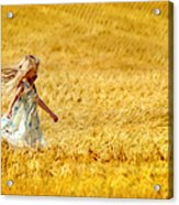 Girl With The Golden Locks Acrylic Print