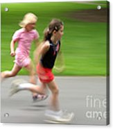 Girls Running Acrylic Print