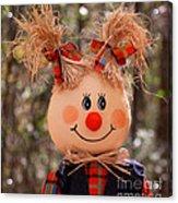 Girly Scarecrow Acrylic Print